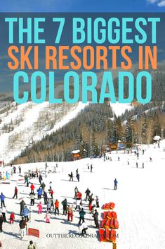 Here are the 7 largest ski resorts in Colorado based on skiable acres. #OutThereColorado #Travel #Colorado #ColoradoVacation #ColoradoSprings #Denver #Breckenridge #RockyMountainNationalPark #Mountains #Adventure #ColoradoFall #ColoradoPhotography #ColoradoWildlife #Mountains #Explore #REI #optoutside Colorado Springs, Road Trip To Colorado, Colorado Winter, Visit Colorado, Travel Blog, Usa Travel Guide, Travel Guides, Snowboarding, Skiing