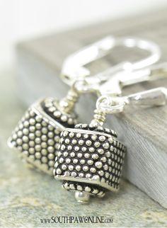Bali earrings Granulated Sterling silver cubes by southpawstudios Beaded Earrings, Beaded Jewelry, Silver Jewelry, Handmade Jewelry, Metal Jewellery, Antique Jewelry, I Love Jewelry, Jewelry Design, Bali Jewelry