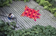 huichol rug by elissa medina is influenced by mexican folk art