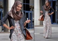 Awesome maxi dress with blazer hijab 2017-2018 Check more at http://newclotheshop.com/dresses-review/maxi-dress-with-blazer-hijab-2017-2018/