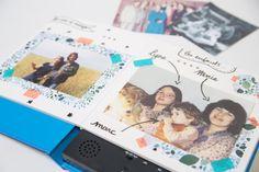 """Un livre de souvenirs façon """"scrapbooking"""" Scrapbooking Blog, Polaroid Film, Socialism, Father's Day, Plastic Storage Tubs, Gift Ideas, Notebook"""