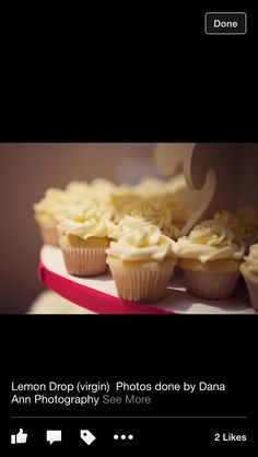 Lemon Drop Cupcake minis - bridal