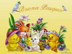 Schema per il punto croce: Quadretto Buona Pasqua