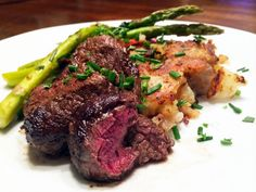 Pan Seared Elk and Smashed Rosemary Potatoes