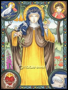 Saint Catherine of Sienna by natamon