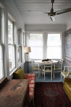 Erinu0027s Warm U0026 Wood Wrapped Austin Budget Bungalow. Sunroom Ideau0027sSunroom  DecoratingPorch ...