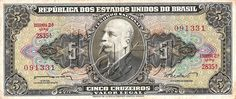 5 CRUZEIROS BRAZILIAN BANKNOTE -.... I love baknotes... And i want to collect them...