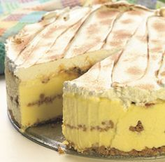 Lemon-Caramel Icebox Cake--Lemon meringue pie lovers will go crazy for this gorgeous make-ahead cake. The caramel and the lemon curd can be made up to 5 days ahead and store-bought graham crackers make a wonderfully-textured crust. Via FineCooking