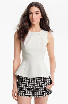 Trina Turk Peplum Top available at #Nordstrom
