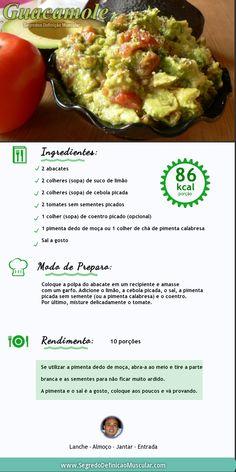 Receita de guacamole → http://www.segredodefinicaomuscular.com/guacamole-e-muito-saudavel/ #Dieta