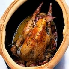 Guinea Fowl Baked with Thirty Cloves of Garlic