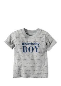 Carters  Printed Birthday Boy Tee