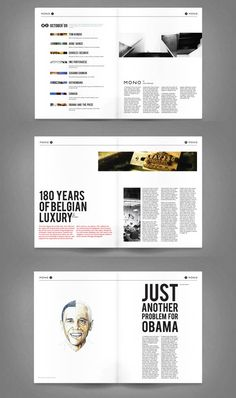 Contemporary, interesting magazine layout. Clever composition of images, type and body copy to keep the reader interested.
