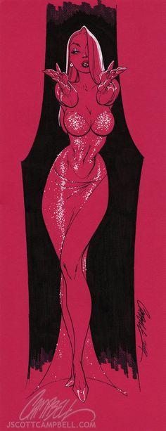 Jessica Rabbit by J. Scott. Campbell