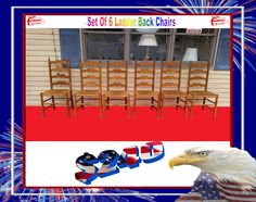 Set of 6 ladder-back Chairs