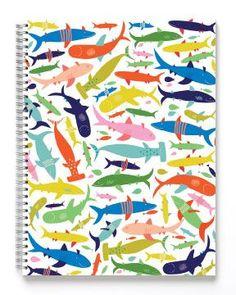 KIDS :: kids large sketchbook :: Friendly sharks sketchbook - Ecojot - eco savvy paper products