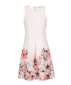 94a9dbf4040 Lace Bodice Floral DressLace Bodice Floral Dress