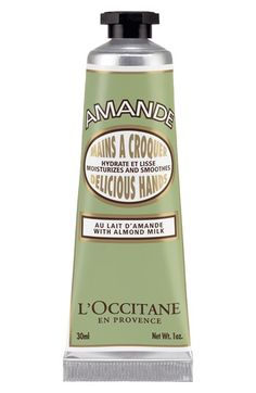 L'Occitane 'Almond Delicious' Hand Cream, same with the shower oil. It smells luxurious. It is really moisturizing.