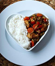 Kulinarne Inspiracje: Kurczak, warzywa i ryż - łatwy i szybki obiad!
