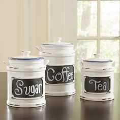 Store Flour, Sugar, Salt, And Other Kitchen Essentials In These Vintage  Ceramic Canisters