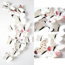 12pcs Sticker Art Design Decal Wall Stickers Home Decorations 3D Butterfly New