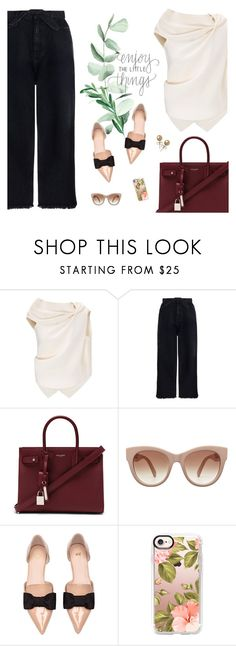 """""""Enjoy the little things"""" by tsaniaardhani on Polyvore featuring Roland Mouret, Zimmermann, Yves Saint Laurent, STELLA McCARTNEY, H&M, Casetify, Bling Jewelry, GetTheLook, ootd and classy"""