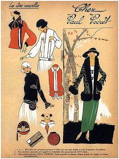 1923 Paul Poiret Les Idees Nouvelles de la Mode Fashion Art Deco Pochoir Tres Parisien