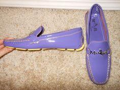 Mario Hernandez PURPLE Patent leather Slip On Moccasins Size 38 #MarioHernandez #LoafersMoccasins #secondchances #fashionbloggers #fashionista #moccasins