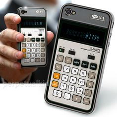 HA!  Old school calculator case for your iphone 4...and actually is a working calculator to boot!  LOL!