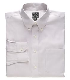 Traveler Collection Traditional Fit Button-Down Collar Dress Shirt - B