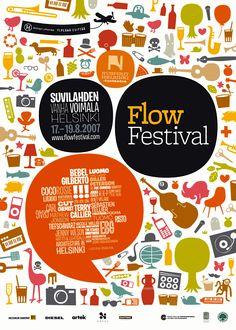 Flow festival Poster by Theodore Design Design Poster, Flyer Design, Layout Design, Print Design, Poster Designs, Poster Ideas, Design Design, Design Ideas, Festival Flyer