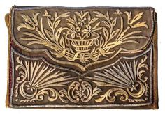 Adorned with goldwork embroidery (technique: 'sarma' / 'Maraş işi'). Embroidery Bags, Gold Embroidery, Embroidery Patterns, Ottoman Turks, Affordable Art Fair, Turkish Fashion, Gold Work, Vintage Purses, Embroidery Techniques