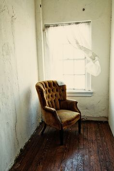 by Richard Flores Love Chair, Old Chairs, Take A Seat, Humble Abode, Wabi Sabi, Daydream, Diorama, Light In The Dark, Small Spaces