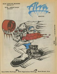 It's all about attitude.... and Alva had heaps. I only recently came across this early 'Alva Skates' add and instantly dug it. I really like the style of the whole illustration. Would have made a mental must have sticker.