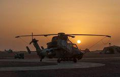 29 avril 2013, 18h09, Gao au Mali, hélicoptère Tigre du GAM sur le tarmac de laéroport