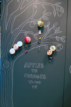 great idea for a craft booth — chalkboard paint on cardboard \\