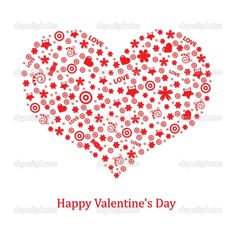 Valentines Day Cards for Red color and White Background as well as Heart Star
