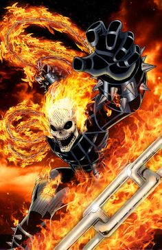 Ghost Rider by Cliff England (Marvel comics) Marvel Comic Character, Comic Book Characters, Marvel Characters, Comic Books Art, Comic Art, Marvel Comics Art, Marvel Heroes, Anime Comics, Captain Marvel