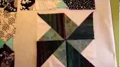 How to make double pinwheels from squares - YouTube