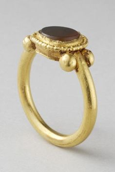 Roman Gold Ring with Deep Red Carnelian Bezel Date: 2nd Century AD