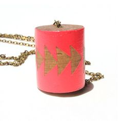 Running Arrow Necklace Red  by Voz