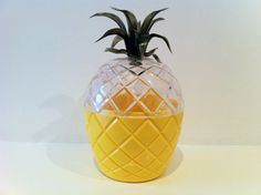 Vintage Pineapple Plastic Pot Kitsch