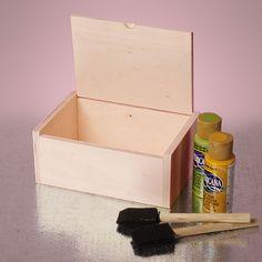Hinge Top Wood Boxes