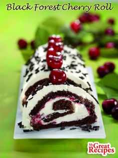 This variation on the classic German #dessert is a lighter #cake with more #cream per bite. It's great for special occasions. #cherry