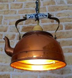 Copper Kettle Lamp