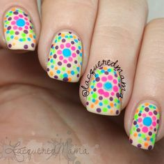 Neon Polka Dots - Easy Nail Art Tutorial