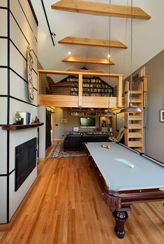 His & Hers by Boren Construction / Washington, United States- ohh would love a little loft library like this!