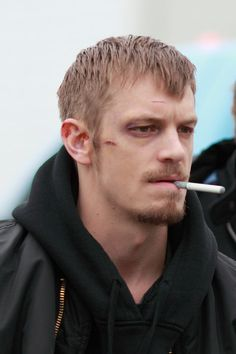ohvasparetime:  Joel Kinnaman on set of The Killing. Posted by trueblue @ http://skarsgard.yuku.com/topic/69/The-Killing-Show-Overview-and-Photos?page=17#.T3UrkhB5mK0