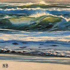 DPW  Original Fine Art Auction - Winter Waves - © Nora Bergman