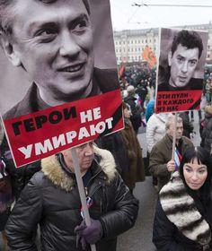 Trauermarsch in Moskau